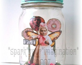 CaPTuReD FaiRy WHiMSiCaL aLTeReD aRt JaR CoLLaGe