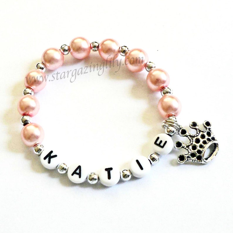 Princess Party Favor Name Bracelet Personalized Name Bracelet image 0