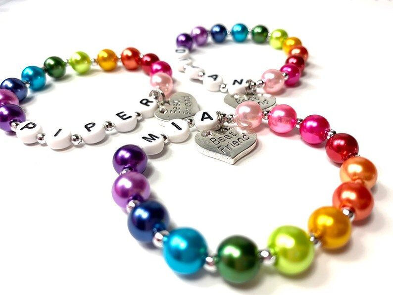 One Rainbow Best Friend Children's Charm Bracelets Order 1 image 0