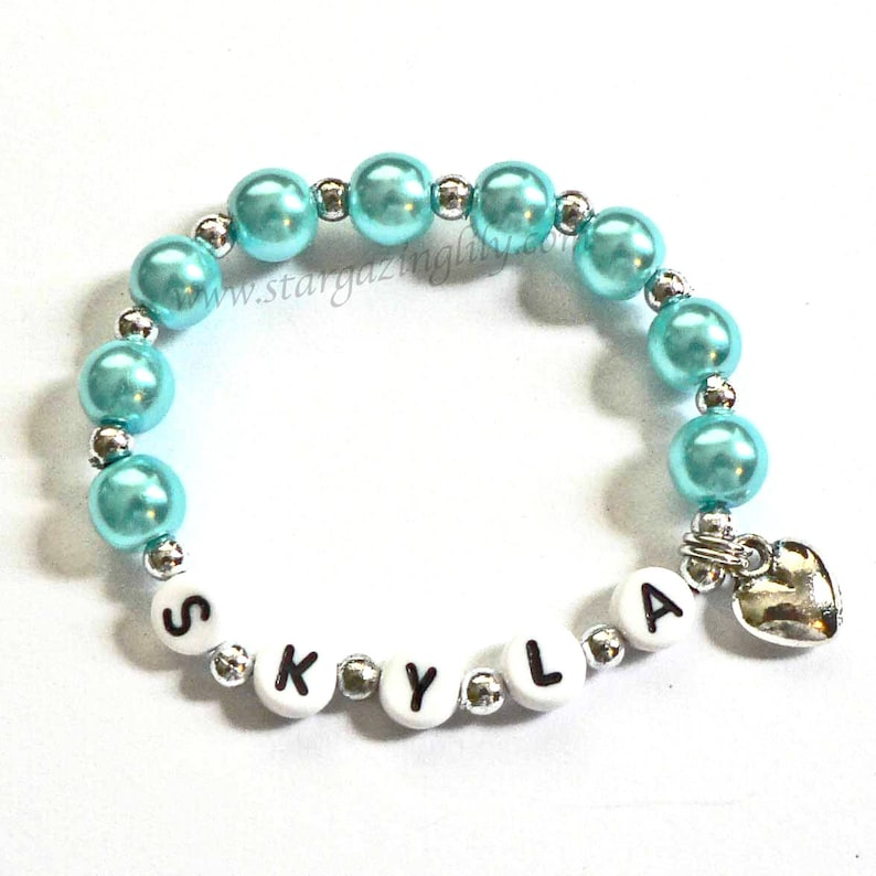 Personalized Name Bracelets Children's Jewelry image 0