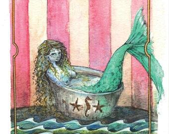 The Amazing Mermaid - a giclee print - artwork by Ann Whim Tseng