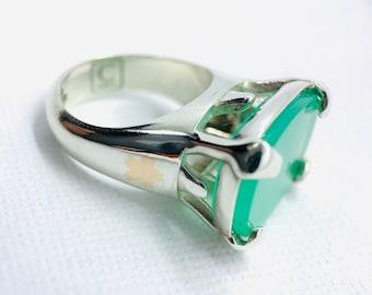 Chrysoprase Statement Ring