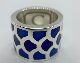 Wide Koi Scale Ring