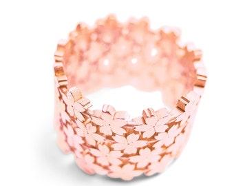 Four Row Little Sakura #4 Ring