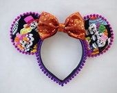 Dia de Los Muertos Minnie Ears Orange Bow