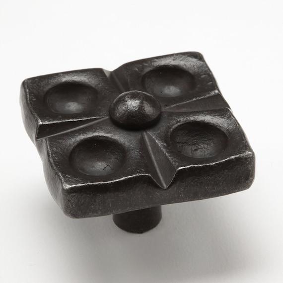1.75 Flower Knob Wrought Iron Kitchen Cabinet Hardware | Etsy