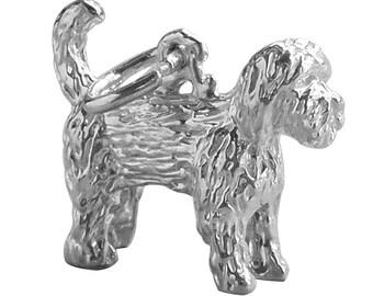 6ab76c7d5 Labradoodle Dog Sterling Silver Bracelet Charm Solid .925 Pet Animal