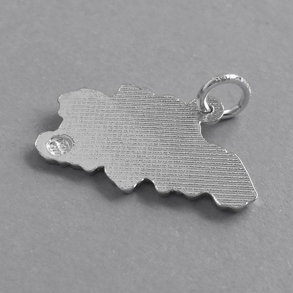 Greece Map Of Sterling Silver Bracelet Charm Solid .925 Greek Travel Souvenir Europe Mediterranean
