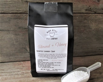 Laundry Soap ALMOND + HONEY  Shipping Included ... Black Kettle