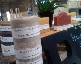 COCONUT MILK & Rhassoul Clay Shampoo Bar ...Black Kettle