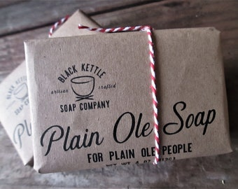 Holiday Packaging DEATH by COCONUT Plain Ole Soap