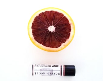 Lip Balm BLOOD ORANGE essential oil Lip Butter ... Black Kettle