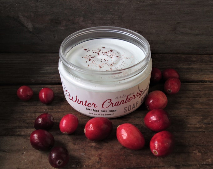 Featured listing image: WINTER CRANBERRY Goat Milk Cream