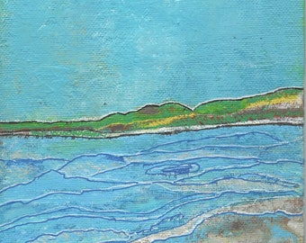 SALE: Small Wall Decor, Art And Collectibles, Acrylic Home Decor, Orginal Abstract Art Landscape Painting, 6 x 6 inches