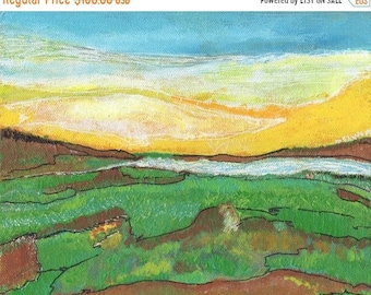 SALE: Small Abstract Landscape, Wall Art