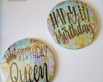 HUGE Happy Birthday Magnets set of 2