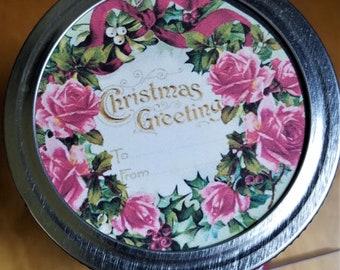 Mason or Ball Jar Lid Tags for Christmas gifts