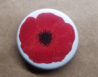 Memorial Poppy Pinback Button Set of 5