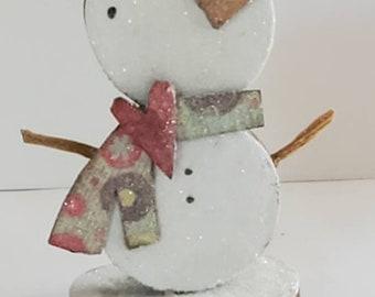 winter cheer snowman assemblage...jOy