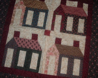 Four Houses Little Quilt 37 x 37 inches