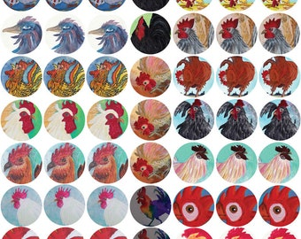 Chicken Stickers,decorate journals, envelopes,notecards, Carolk original art