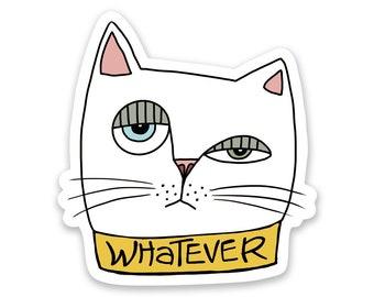 Whatever Cat Sticker