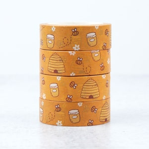 Pen Pal Washi Tape SAMPLE Planner Mail Art Snail Mail Gold Foil Bees and Honeycomb for Junk Journal Happy Mail