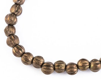 4mm Antique Brass Melon Bead (50 Pcs) #GAX013