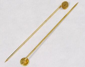 60mm Silver Stick Pin w// 6mm Pad  #MFB013