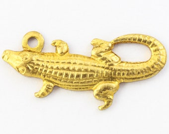 Alligator Crocodile Lizard Animal Lobster Claw Clip Dangle Charm for Bracelets Adorable Charms and More for Your own Designs by CharmingStuffS