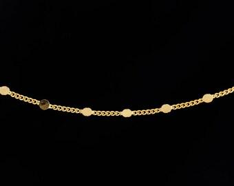 6mm x 8mm Bright Gold Curb Chain #CC50