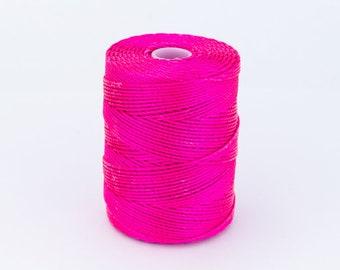 NS018-19 35meters 1 roll 1mm nylon cord Hot pink nylon cord