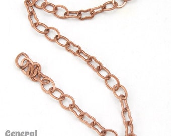 5mm x 3mm Antique Brass Delicate Oval//Peanut Link Chain #CC213