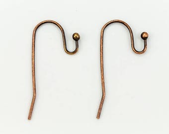 30mm Antique Copper Round 20 Gauge Ear Hoop #EFD113
