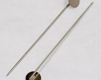 70mm Silver Stick Pin w// 10mm Pad #MFD013