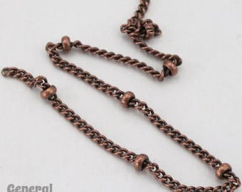 30 Ft Ball Station Chain by the Yard Bead Chain for Necklace Making Antique Copper Beaded Chain by the foot Copper Satellite Chain Bulk
