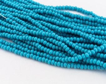 #CSG282 110 Matte Transparent Blue Zircon Czech Seed Bead 10 Gm, Hank, 12 Kilo