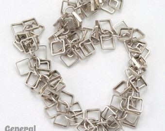 6 Inch 5.1mm Antique Silver Dangling Squares Chain #CC226