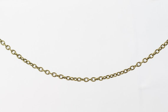Antique Brass 2mm x 1mm Delicate Cable Chain CC180