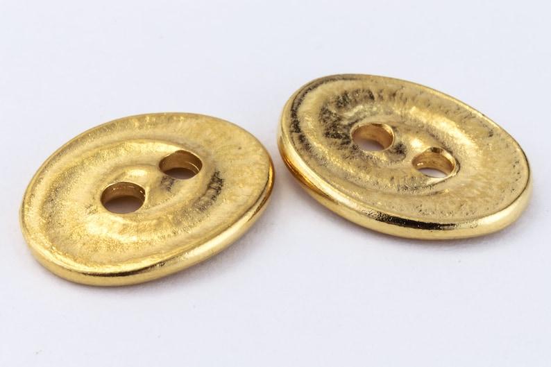 #CK639 20 Pcs 18mm Bright Gold TierraCast Oval Swirl Button