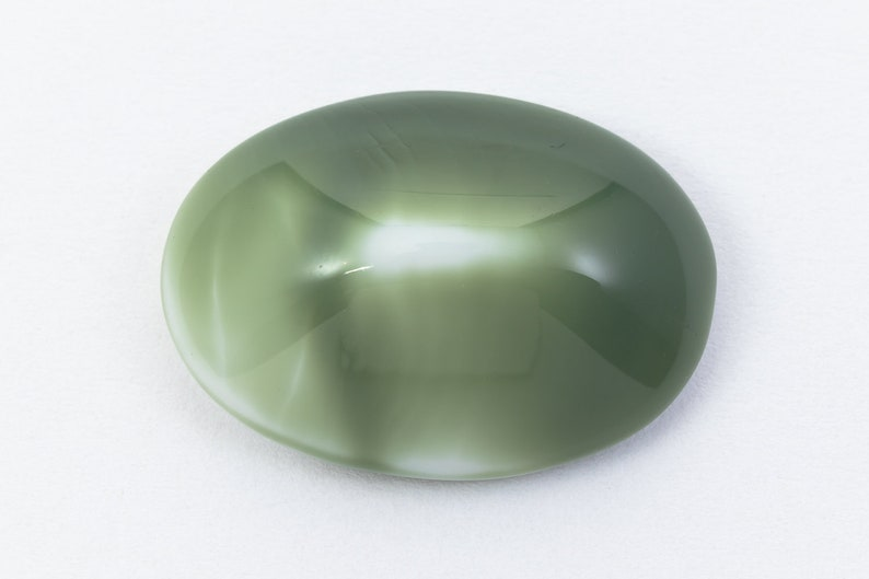 18mm x 25mm GreenWhite Marble Peaked Oval Cabochon #XS42-J