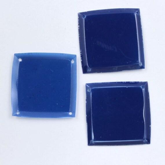 10mm Vintage Cupped Black Square Sequins #6625 100 Pcs
