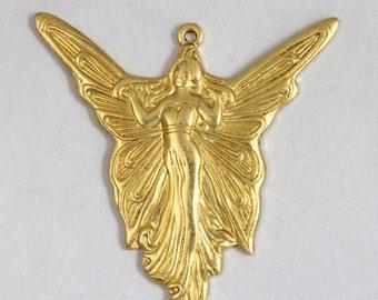 35mm Art Nouveau Fairy Charm #BRA007