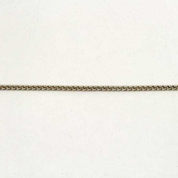 Antique Silver 1.5mm Delicate Curb Chain #CC45