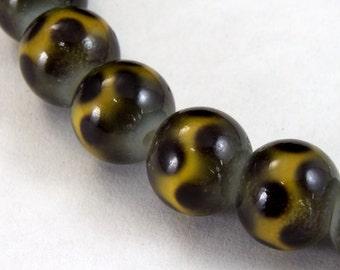 7mm Brown Dot Bead (56 Pcs) #2490
