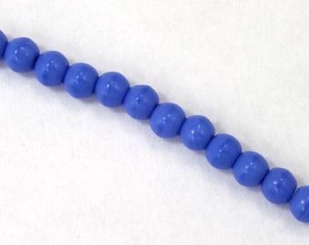 4mm Opaque Periwinkle Druk Bead #GAB117
