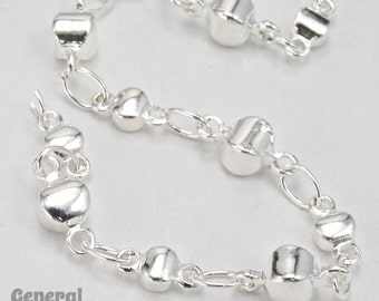 Silver Alternating Disc Chain #CC250