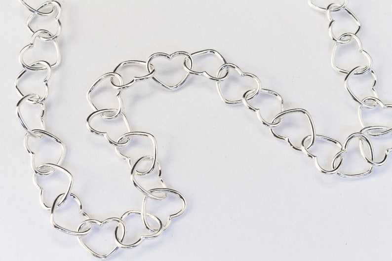 4mm Sterling Silver Heart Shaped Chain #BSW089