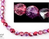 10mm Metallic Amethyst Pink Two Tone Fire Polished Bead (25 Pcs) FPX131