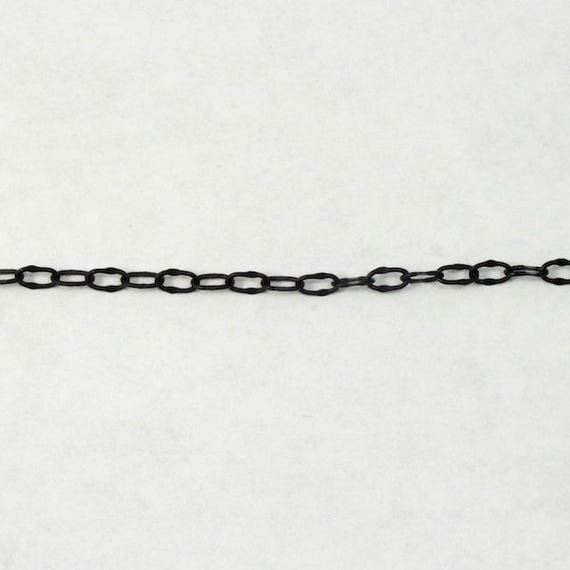 4mm x 3mm Classic Cable Chain CC173 Matte Black